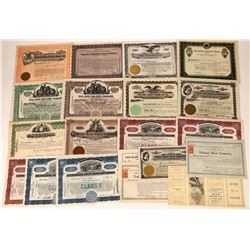 20 Barber Supply & Razor Company Stock Certificates  [127386]