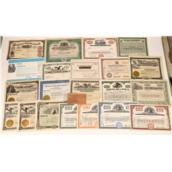 21 Stock Certificates Issued by Wood & Lumber Companies  [127378]