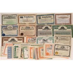 A Thru C Surname Company Stocks Includes Seven #1 Certificates (92)  [118771]