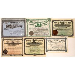American Company Stock Certificates, Issued Pre-1900 Group (6)  [118765]