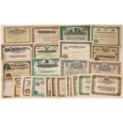 Eastern U.S. Company Stock Certificates Issued 1900-1918 (34)  [118782]