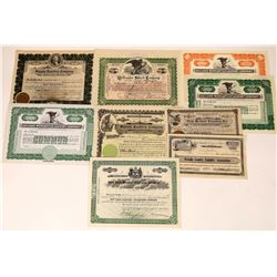 Eight Laundry Company Stock Certificates  [127381]