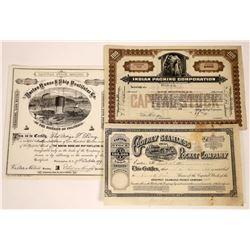 Fancy Vignette Stock Certificates (3)  [127401]