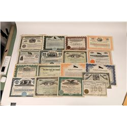 Leather & Fur Company Stock Certificates (17)  [127429]