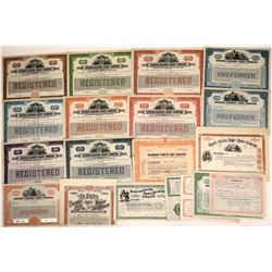 Light Company Stock and Bond Certificates Includes Many Banknote Specimens (19)  [128772]