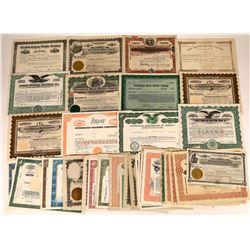 Office/Bank/Money/Machines Stock Certificates (50)  [127348]