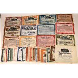 Paper Manufacturing Companies Stock Certificates (33)  [127347]