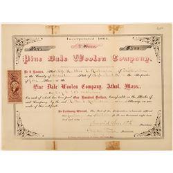 Pine Dale Woolen Co Cert  [122411]