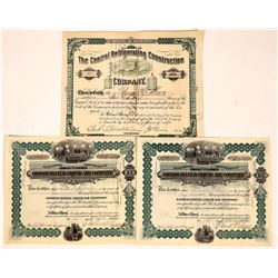 Refrigeration and Liquid Air Company Stock Certificates (3)  [127738]