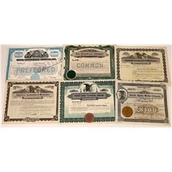 Typewriter Company Stock Certificates (6)  [127393]