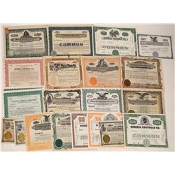 Western Manufacturing Stock Certs  [122422]