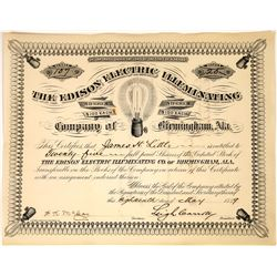 Edison Electric Light Company Stock Certificate  [127453]