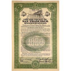 San Francisco Hetch Hetchy 1928 Bond  [127375]