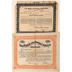 Yolo County Utility Stock Certificates (2)  [127467]