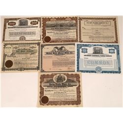 California Water Company Stock Certs (7)  [127457]