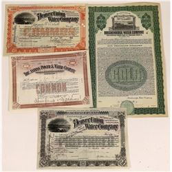 Colorado Water Company Certificates(4)  [127460]