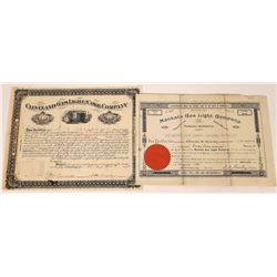 Gas Light Company Stock Certificates (2)  [127797]