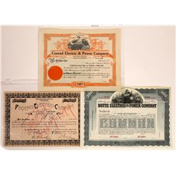 Butte Electric Company Stock Certificates incl. #1 and Specimen  [129631]