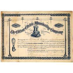 Edison Company Stock Certificate  [127796]