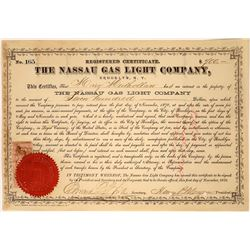 The Nassau Gas Light Company Stock Certificate  [127455]