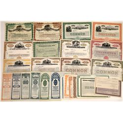 U.S. Electic Company Stocks Printed by Banknote Companies- Many Specimens (31)  [128760]