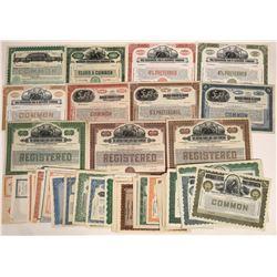 U.S. Utility Company Stock Printed by Banknote Companies W. Many Specimens (94)  [128770]
