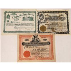 Gas Light Company Certificate Trio  [127461]