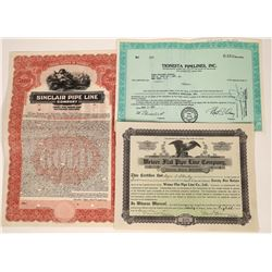 Pipeline Company Stock Certificates (3)  [127495]