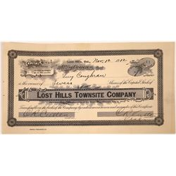 Lost Hills Townsite Company Stock Certificate  [107948]