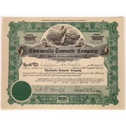 Chucawalla Townsite Company Stock Certificate  [113915]