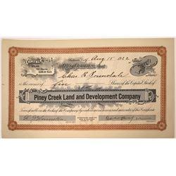 Piney Creek Land & Development Co. Stock Certificate  [107929]
