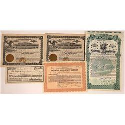Sonoma County Land & Development Stock Certificates & Bond  [113921]