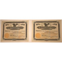 Homedale Townsite Company Stock Certificate Pair incl. #1  [107952]