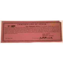 Chalk Banks Stock Company Stock Certificate  [107953]