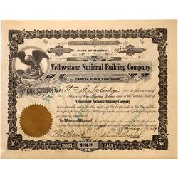 Yellowstone National Building Company Stock, Billings, Montana, 1919  [123949]
