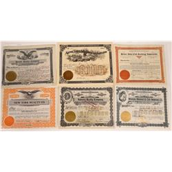 Butte Real Estate Stock Certificate Group  [129636]