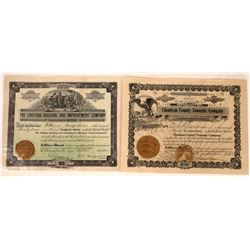 Choteau, Montana Land Co. Stock Certificate Pair  [127573]