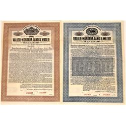 Valier-Montana Land & Water Company Specimen Bonds  [127570]