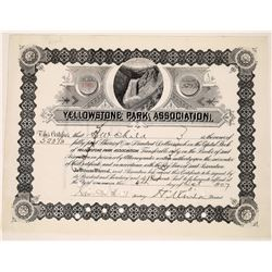 Yellowstone Park Association Stock issued to HW Child and signed by president HW Child  [130003]