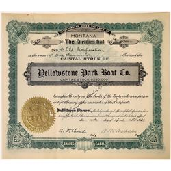 Yellowstone Park Boat Company Stock issued to Henry H. Child Corporation  [123893]