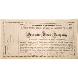 Franklin Town Company Stock Certificate  [107925]