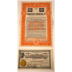 Early Las Vegas Investment Stock & Bond  [107941]
