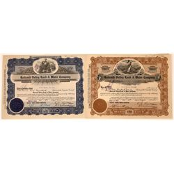 Railroad Valley Land & Water Co. Stock Certificates  [113914]