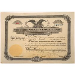 Smith Valley Land Company Stock Certificate  [107940]