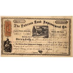 Paterson Land Improvement Company Stock Certificate  [113903]
