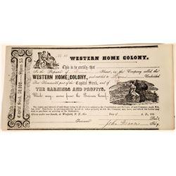 1850's Home Development Stock Certificate  [127427]
