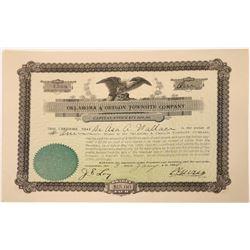 Oklahoma & Oregon Townsite Company Stock Certificate  [107947]