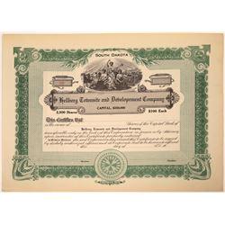 Hellberg Townsite & Development Company Stock Certificate  [107950]