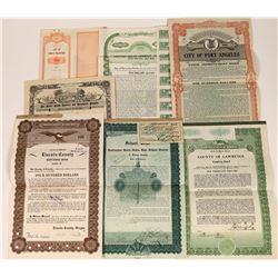 General Improvement District Bond Certificates 1900's (7)  [127402]