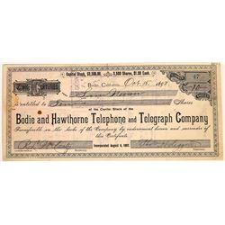 Bodie & Hawthorne Telephone & Telegraph Co. Stock Certificate  [113974]